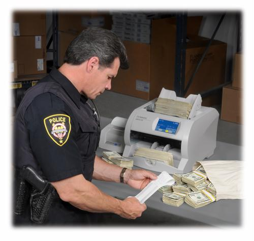 Cash counters can provide processing power to law enforcement agents after arrests