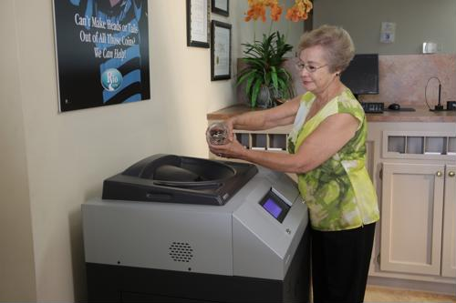 Self-service coin counters introduce credit union members to more services