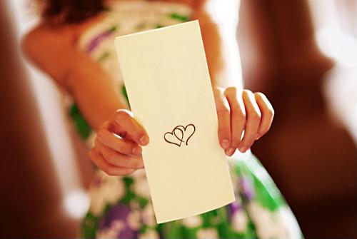 Craft a special message on your wedding programs.