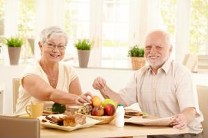 Good eating habits typically decline with age, which can put seniors' health at risk.