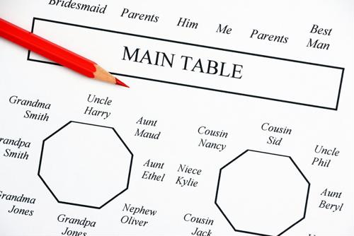 Here are some tips for your wedding seating chart.