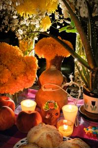 Hold vigil on Mexico's Day of the Dead
