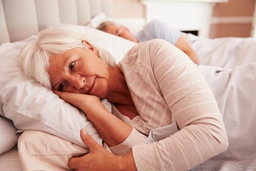 It was harder for patients to stay positive when coping with insomnia.
