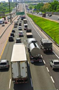 US diesel truck emissions decreased significantly
