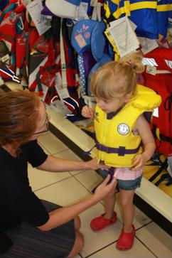 Picking the right flotation device for your child