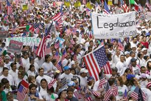Plenty of peaceful protests are being carried out by immigration reform supporters across the country.