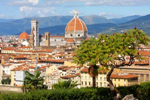 See a beautiful view of Florence from Piazzale Michelangelo