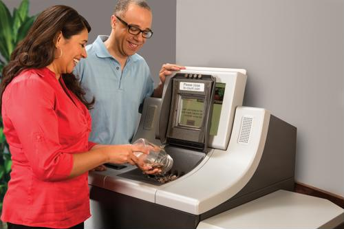 Credit unions can serve residents affected by bank closures with self-service coin counters