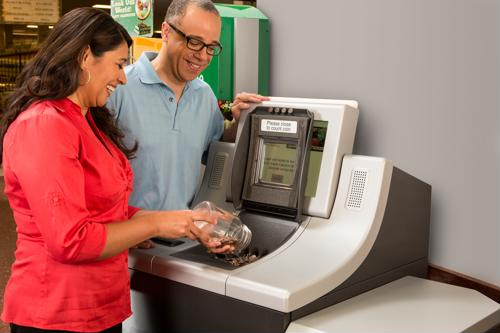 Self-service coin counters keep the in-store experience fresh at grocery stores