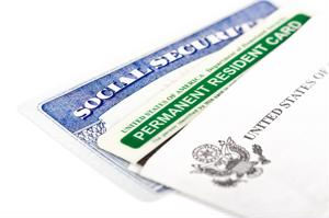 The government has made an announcement for bids for millions of blank green cards.