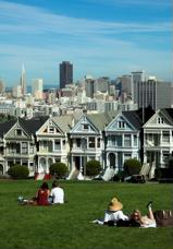 Victorian-style houses represent one of many architectural themes in San Francisco.