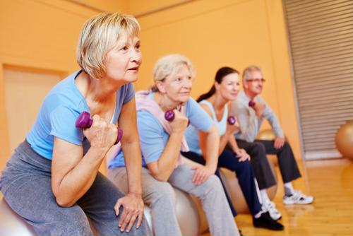 Weight-bearing exercises can strengthen the bones of postmenopausal women.