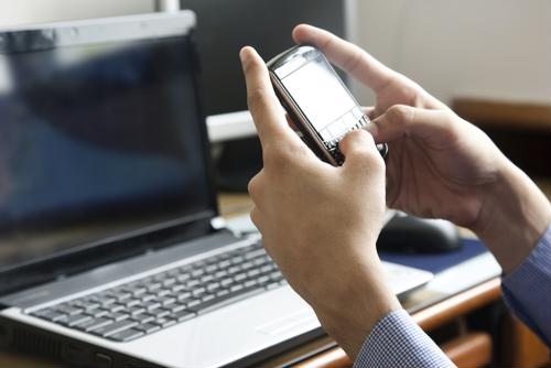 Working from smartphones can pose data security risks