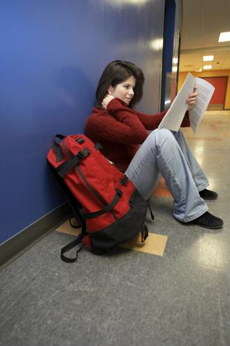 A backpack should never be more than 10 to 15 percent of a student's weight.