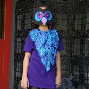 Are you searching for a simple Halloween outfit? Try a Bright Night Owl costume