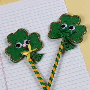 Designing St. Patrick's Day pencils can get your kids into the holiday spirit