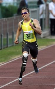Oscar Pistorius, a double-amputee, qualifies for men