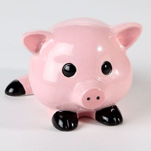 Piggy bank for gobbling up savings