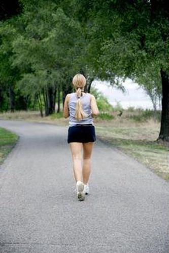 Powerwalking is a great way to burn calories.
