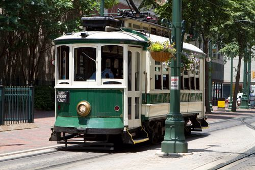 Ride a vintage trolley around Memphis