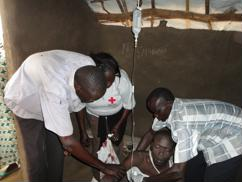 South Sudan Red Cross team provides lifesaving assistance to man in need