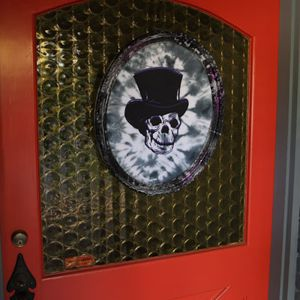 Spook out trick-or-treaters this fall with Haunted Hollow Skull Art