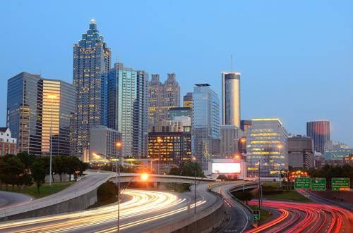 Take a stroll down Peachtree Street in Atlanta
