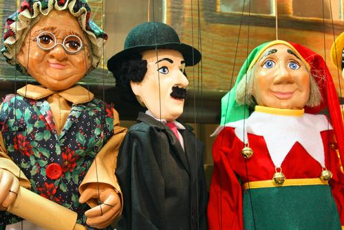 Take in a show performed by towering puppets in the Sunshine State