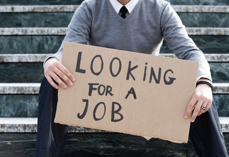 The unemployment rate decreases both when job searchers find employment or when they give up and leave the labor market.