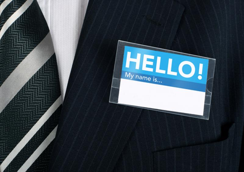 Be sure to make a habit of  looking at name tags.