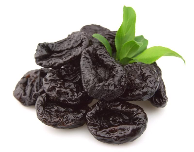 Prunes are dried plums that can help improve digestion.