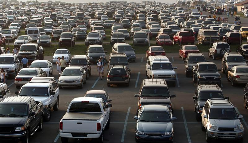 When it comes to parking on Black Friday, patience is a virtue.