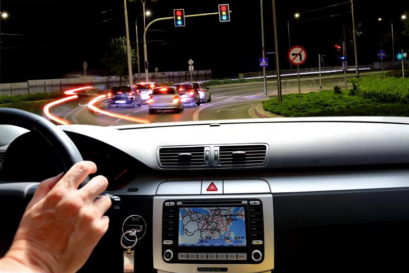 Program your GPS with your destination before you start driving.