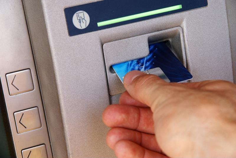 Inserting ATM card