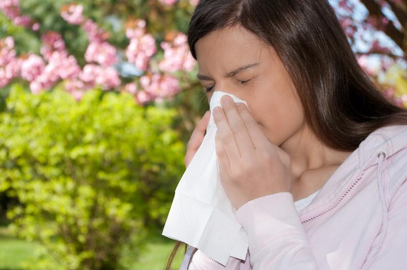 Your allergies are a result of different kinds of pollen and mold spores.