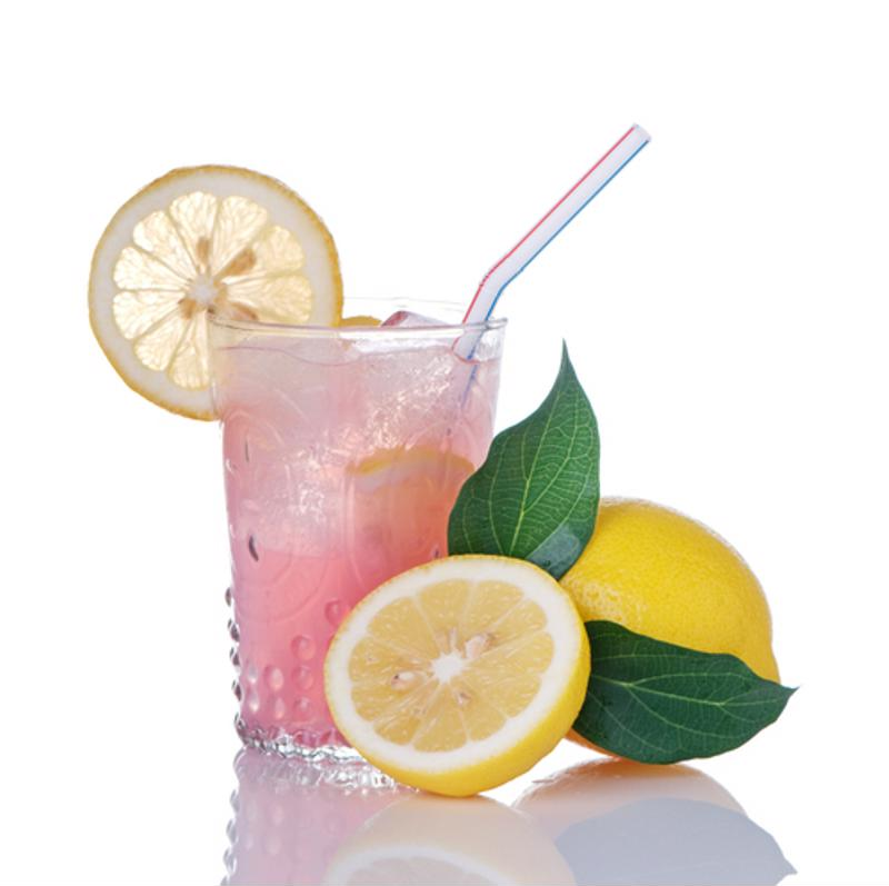Pink lemonade can be a great sweet and sour mixer.