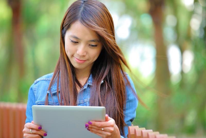 Students can study from their mobile devices.