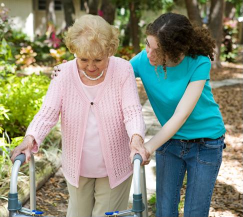 Providing extra assistance as your relative learns to cope with motor symptoms can reduce their likelihood of falls.