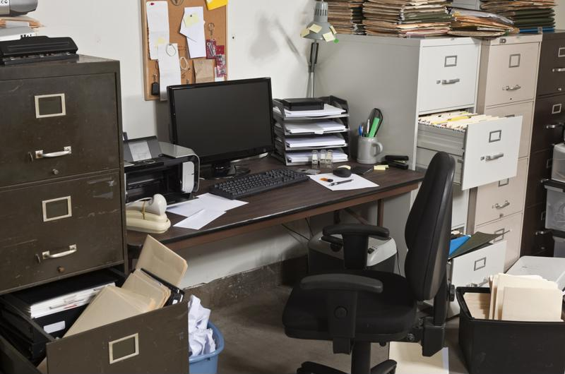Organization can go by the wayside if you're not mindful of clutter building up at your desk.