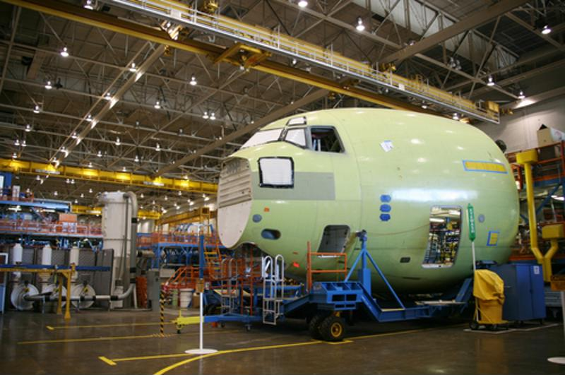 Aerospace manufacturing in Mexico is an industrial sector that has experienced rapid growth over the years, as seen though the rapid production of the green turbine pictured.