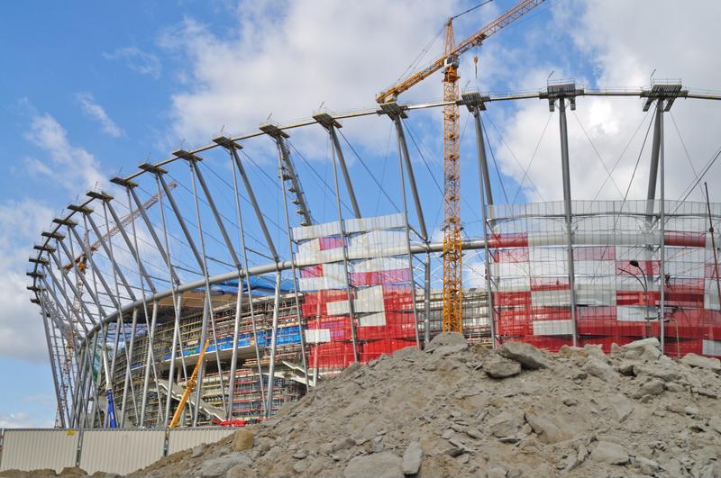 Stadium under construction.