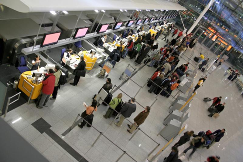 Check-in for your flight before you arrive at the airport to avoid lines.