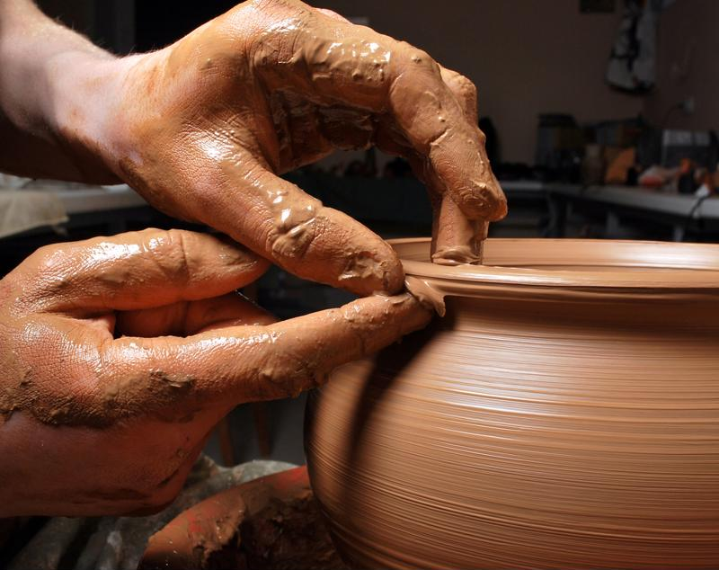 Pottery and ceramic demonstrations are one of ArtWalk's attractions.