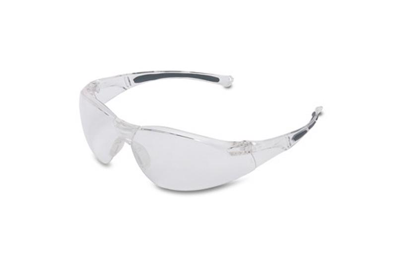 Safety glasses protect students from small debris.