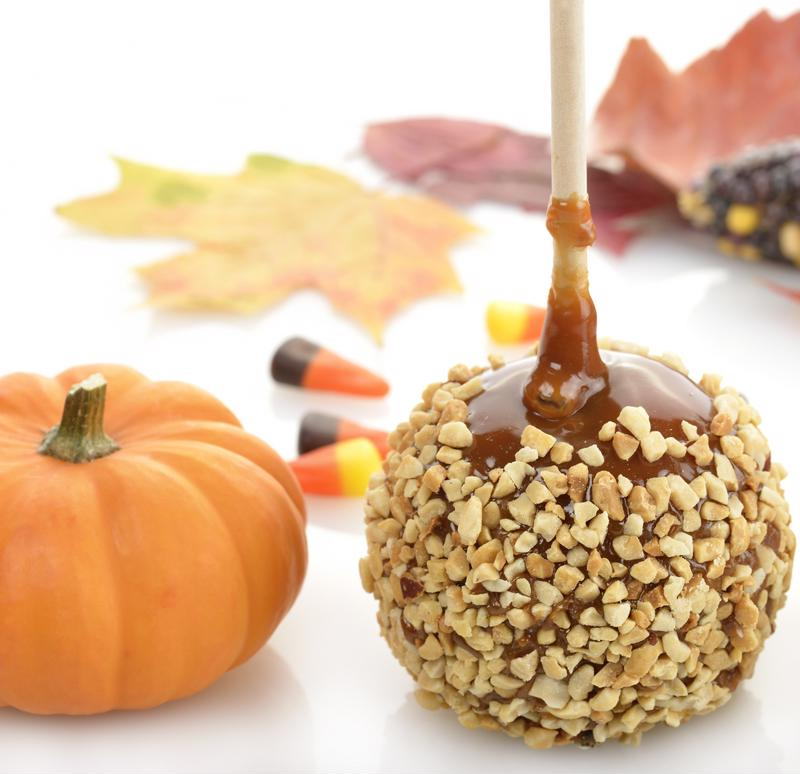 Perfect your candy apples with caramel heated in a slow cooker.