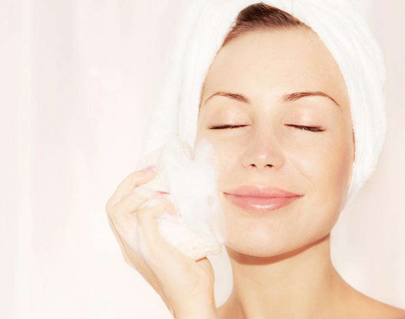 Massage your face in a circular motion when applying the scrub.