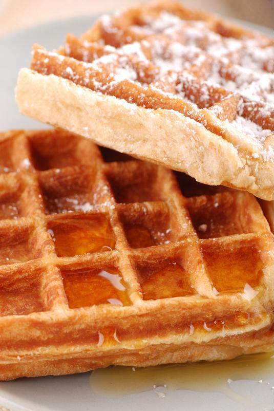 Blending your batter can help you get fluffier waffles.