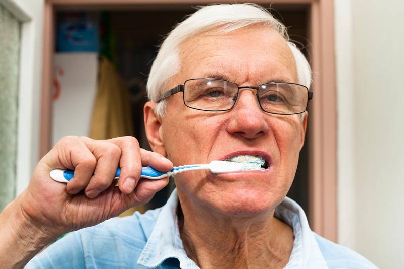 You may need to leave visual reminders that prompt your love one to perform daily tasks, like brushing his or her teeth.