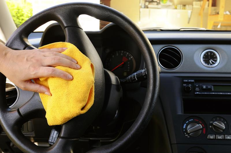 You'll need to clean off the interior of your vehicle.