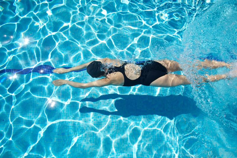 Swimming laps are a great way for people of all ages to burn calories.